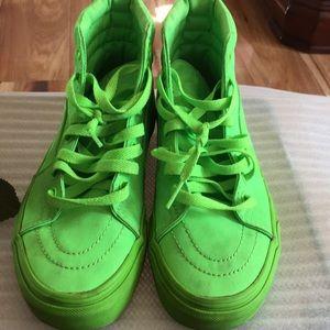 Vans SK8-Hi Mono Canvas Neon Green